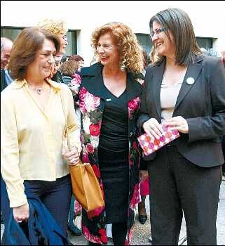 Clementina Ródenas, a la izquierda, estará presente en el acto del Fòrum/socialistes