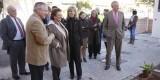 Migue Dominguez con la alcaldesa en la visita al comedor social sito en la calle Santa Cruz de Tenerife/ayto valencia