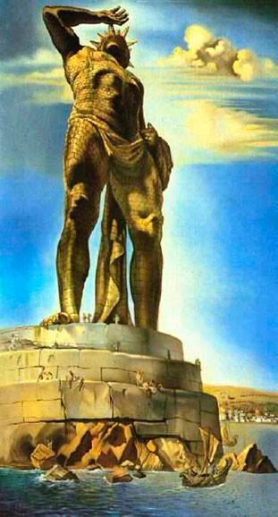 El Coloso de Rodas 1954 de Salvador Dali, Óleo