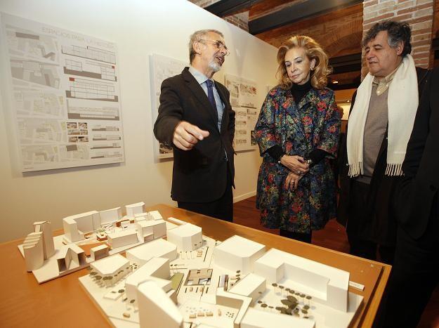 La edil de Cultura contempla uno de los trabajos sobre la ampliación del Museu y el entorno/ayto vlc