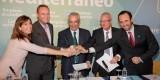 Fabra con otros responsables territoriales del PP en el Manifiesto por el Corredor Mediterráneo