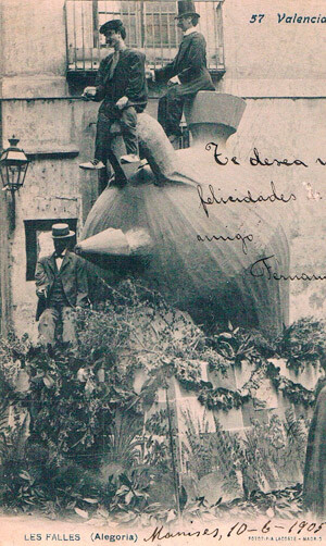 Una falla del año 1905. Foto: archivo privado de Rafael Solaz
