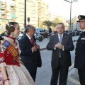 El concejal de Policía Local, Miquel Domínguez, recibe a la Fallera Mayor de Valencia 2012 en el homenaje que se le tributa a las fallas cada año/vlcciudad