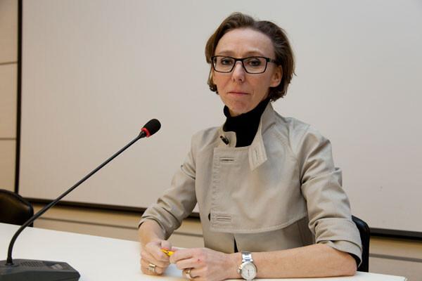 La interiorista Sophie Popelier en un momento de su conferencia en Cevisama 2013