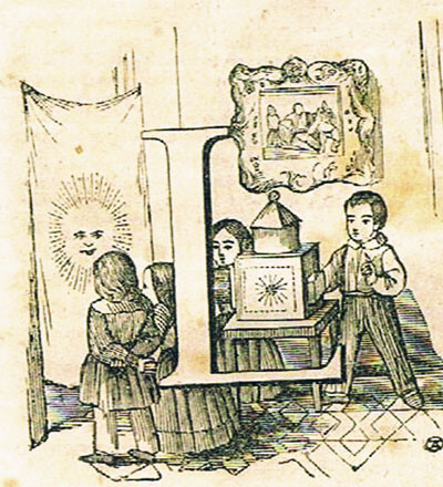 Linterna mágica. Siglo XIX. Foto: Archivo privado de Rafael Solaz