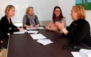 Lucía Cerón, en una visita reciente al Instituto de Familia Doctor Pedro Herrero