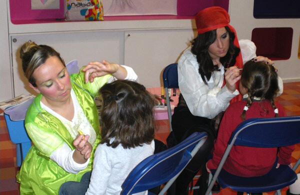 Maquillajes de Carnaval en el Centro Comercial El Saler
