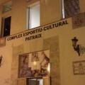 Fachada de acceso al polideportivo de Patraix
