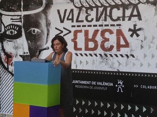 Beatriz Simón en la presentación de los premios Valencia Crea/ayto valencia