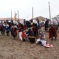 Un grupo de personas ataviadas con trajes de época medieval de la firma Espectáculos HM Producciones en una recreación en El Puig/Espectáculos HM Producciones