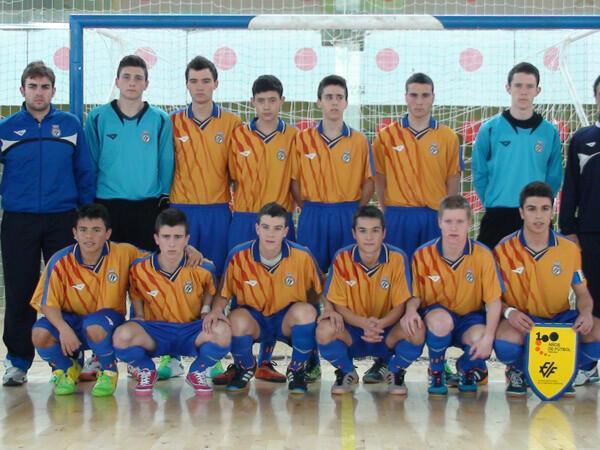 La selección valenciana Sub16 al completo. Foto: Federación Valenciana de Fútbol
