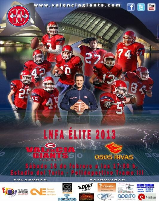 Cartel del encuentro que se disputa el próximo sábado/valencia giants