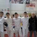 Fran Valero, a la izquierda, con los demás componentes del equipo que disputó el europeo y ahora van al mundial/rfee