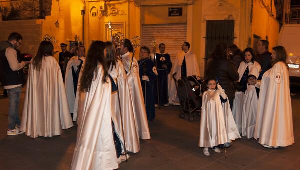 Cofrades de la Hermandad del Buen Acierto en la Retreta 2013. Foto: Isaac Ferrera