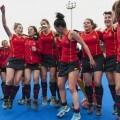 Las chicas de la Selección Española de Hockey festejan su pase al Mundial y a la siguiente fase/Isaac Ferrera