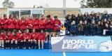 La selección española y la italiana de hockey femenino