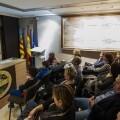 Un grupo de personas durante una charla en la jornada del centro de sindonología celebrada hoy/Isaac Ferrera