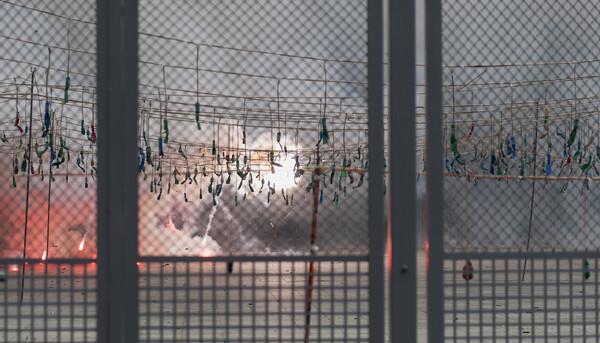 Mascletà de Borredá. Foto: Isaac  Ferrera