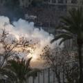 Disparo de una mascleta en la plaza del Ayuntamiento/Isaac Ferrera
