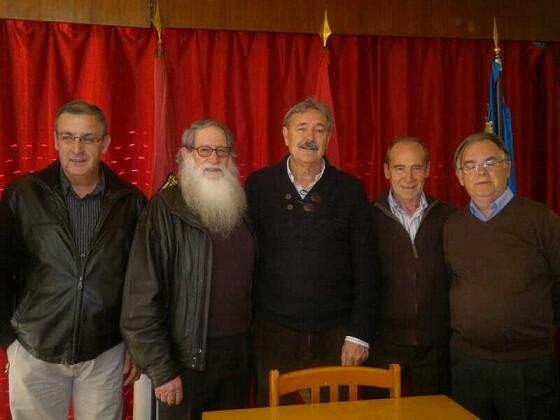 Los dirigentes de las casas castellano-manchegas en la reunión que han celebrado hoy/fed. casas castilla-la mancha
