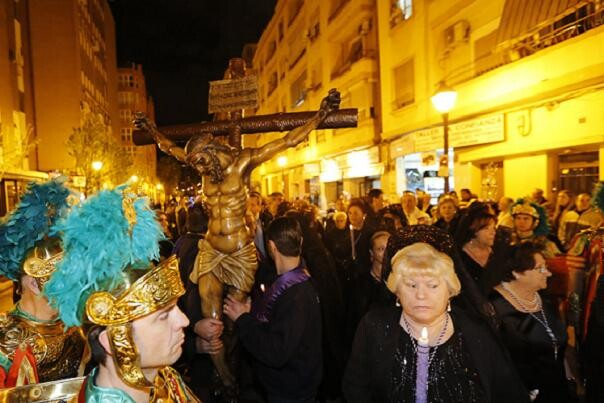 El Cristo de la Concordia en la procesión que presidió por su barrio en el Miércoles Santo/Manuel Molines