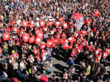 Manifestación de trabajadores de RTVV