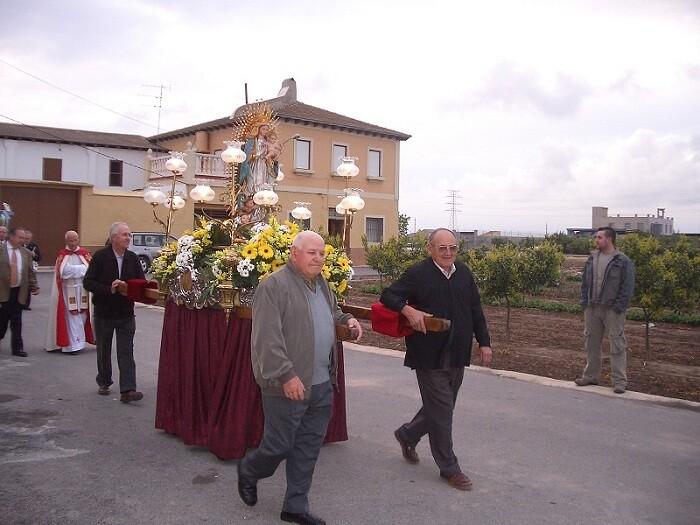 Procesión en Casas de Bárcena. Foto: casasdebarcena.es