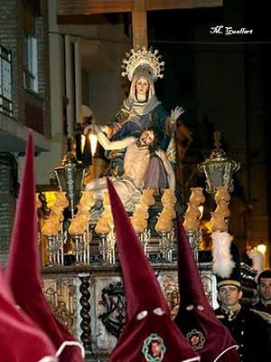 El paso de las Angustias en una procesión de los Siete Dolores de años pasados
