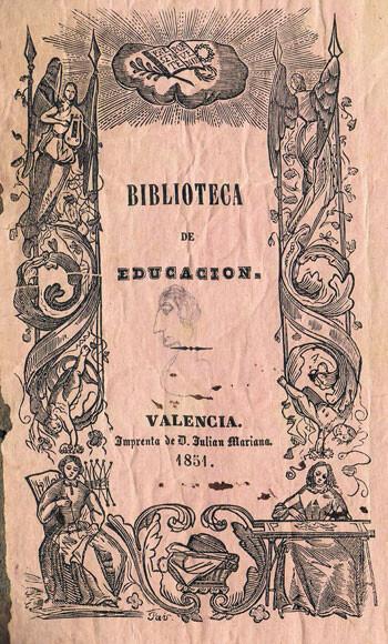 Portada de 'Biblioteva de Educación'. Foto: Archivo privado de Rafael Solaz