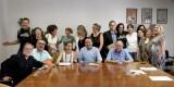 El concejal socialista Vicent Sarria con el colectivo Salvem el Cabanyal/gms