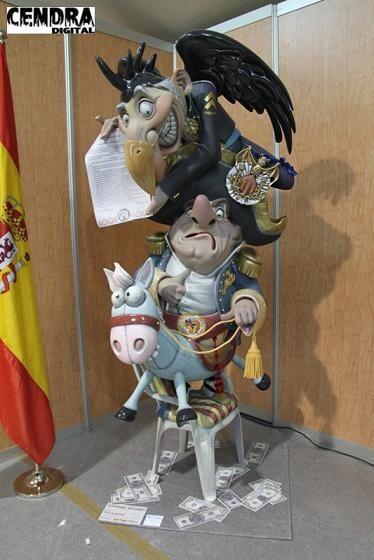 El Ninot de Pedro Santaeulalia que ha ganado el Raga 2013