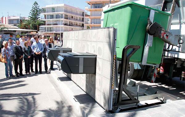 Contenedores soterrados en la Comunitat Valenciana