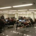 Un grupo de jóvenes en la Escuela Técnica Superior/etsi