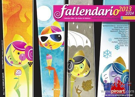 Portada del Fallendario/diseño de Carlos Corredera