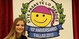 La Fallera Mayor de Valencia junto al logo de Controla Club
