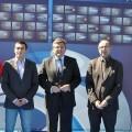Cristóbal Grau, edil de Deportes, y el presidente de la federación de hockey, Jesús Gracia, en la presentación del torneo/ayto vlc