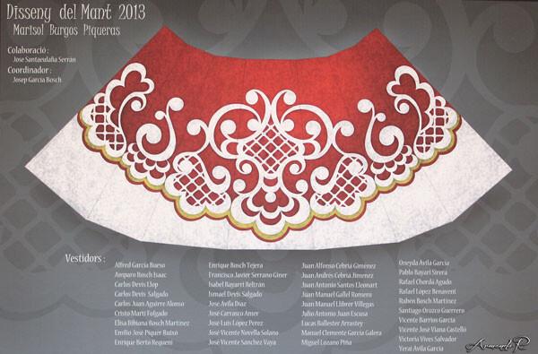 Diseño del manto de la Virgen para la Ofrenda 2013. Foto: Armando Romero