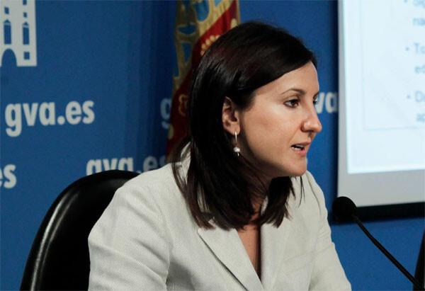 Mª José Català, consellera de Educación. Foto de archivo