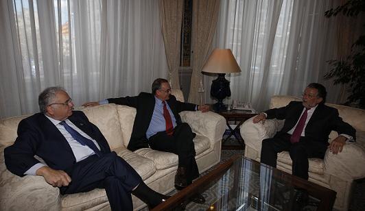 El presidente de las Corts y el vicealcalde departen en alcaldia/ayto vlc