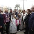 La Princesa en el balcón con las Falleras Mayores y la alcaldesa/ayto vlc