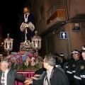 La imagen de Jesús de Medinaceli en una procesión nocturna de Miércoles Santo de hace unos años/eos