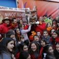 Los pequeños de Reino de Valencia explotan de alegría por el nuevo triunfo/Manuel Molines