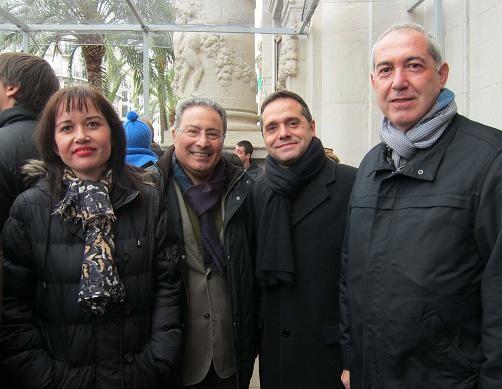 Los ediles Albert y Sanchis con el secretario general de CC.OO., Paco Molina/eu
