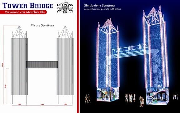 Simulación del proyecto de De Cagna que se está montando en la calle Sueca por la falla/DeCagna