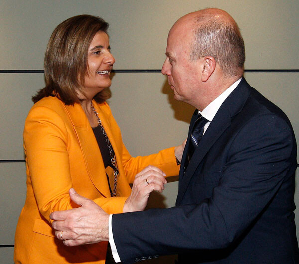 El conseller Buch se encontró con la ministra.
