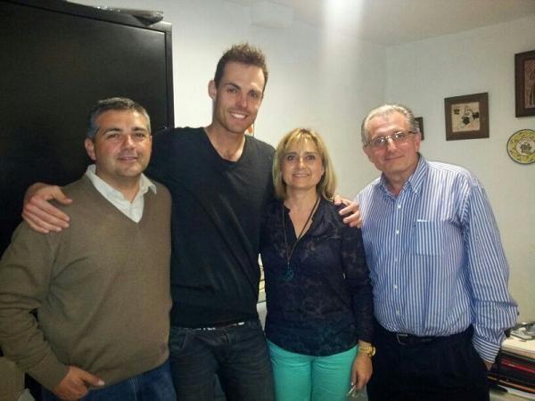 Mario Gual, segundo por la izquierda, con los presidentes de L´Antiga/L´Antiga