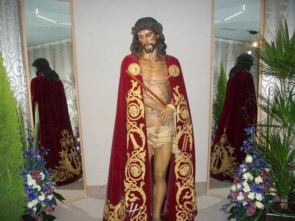 La imagen del Ecce-Homo de Martínez Aparicio en la casa donde ha estado estos días/vlcciudad
