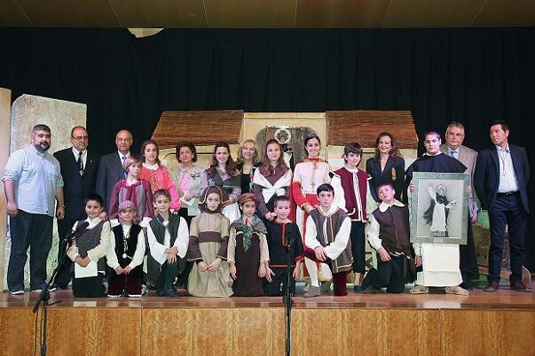Los integrantes del Altar del Tossal reciben el primer premio en la ONCE/M.Guallart