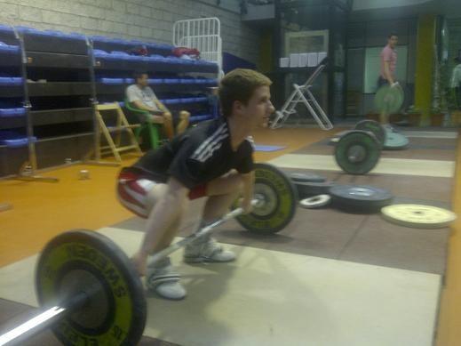 Daniel NUñez durante un entrenamiento para el campeonato de este fin de semana/p.v