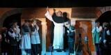 El niño que encarna a Sant Vicent en un momento de su participación/M.Guallart
